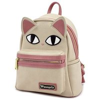 Loungefly Cat Fishbone Print Pink Mini Backpack