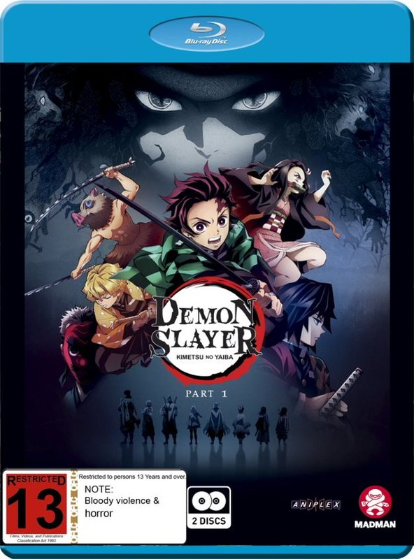 Demon Slayer: Kimetsu No Yaiba: Part 1 (Eps 1-13) on Blu-ray