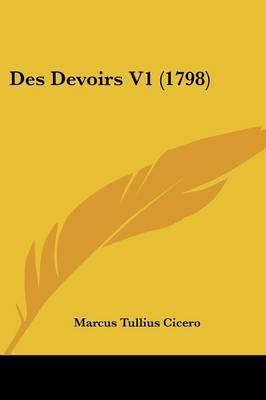 Des Devoirs V1 (1798) by Marcus Tullius Cicero image