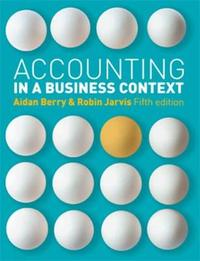 Accounting in a Business Context by Robin Jarvis image