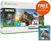 Xbox One S 1TB Fortnite Console Bundle for Xbox One