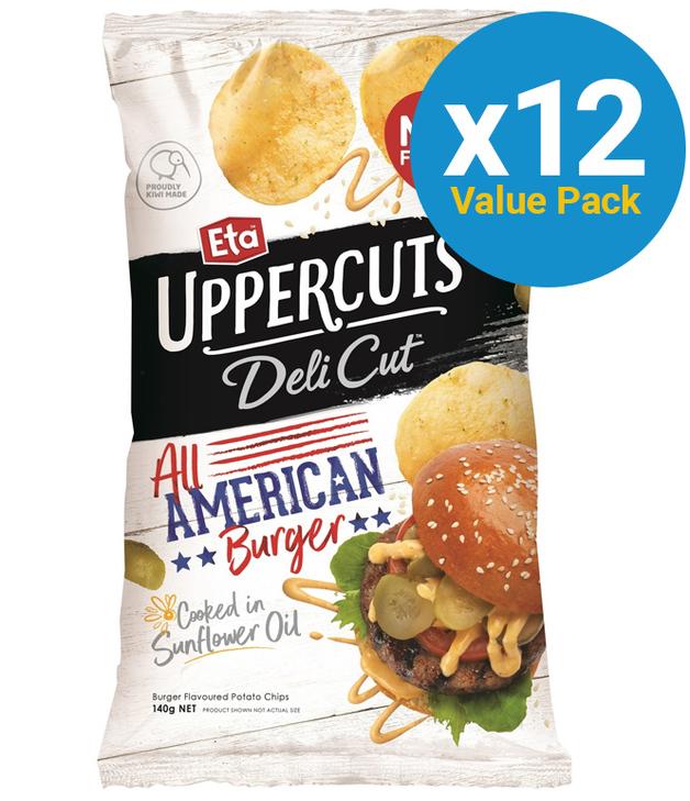 Eta Uppercuts: Delicut - American Burger 140g (12 Pack)
