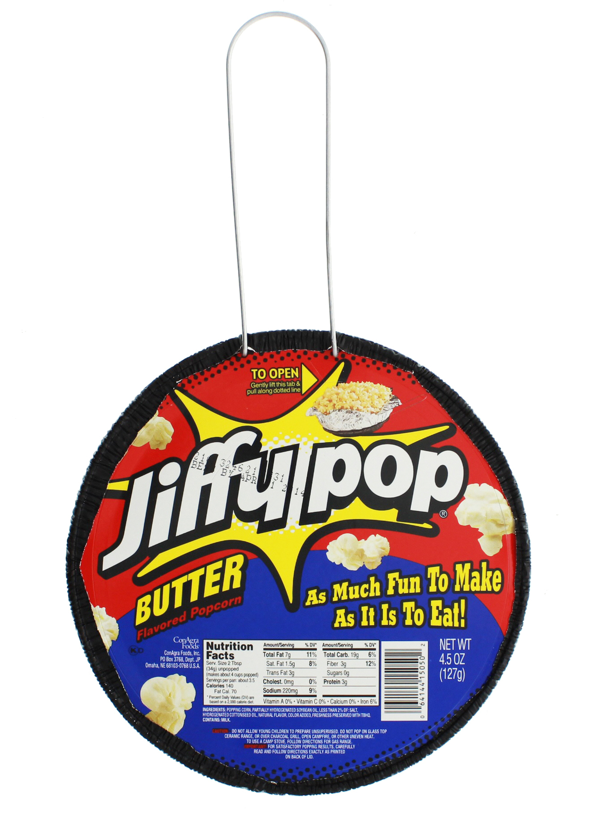 Jiffy Pop Butter Flavoured Popcorn (127g) image