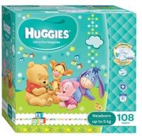 Huggies Nappies: Jumbo Pack - Newborn Up to 5kg (108)