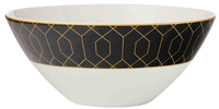 Maxwell & Williams Cashmere Nocturne Bowl 17cm Black/Gold