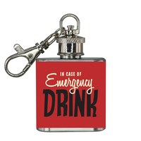 Emergency Mini Hipflask Keyring