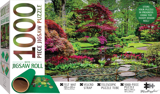 Mindbogglers: 1000-Piece Puzzle & Felt-Roll - Japanese Garden, The Hague