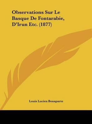 Observations Sur Le Basque de Fontarabie, D'Irun Etc. (1877) by Louis-Lucien Bonaparte image