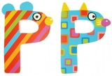 Tatiri Alphabet Letter Crazy Animal - P