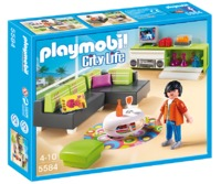 Playmobil modern living room 5584 toy at mighty ape nz for Cuisine 5582 playmobil