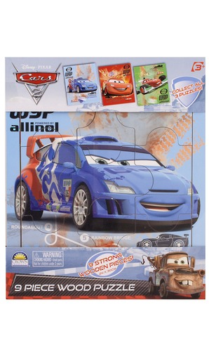 Cars 2 - 9 Piece Wooden Tray Puzzle image
