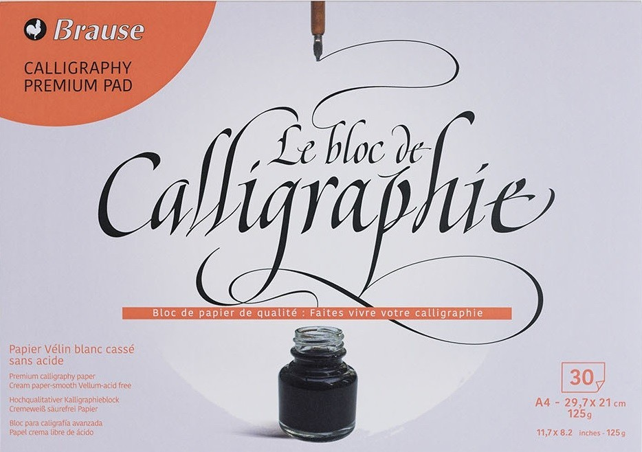 Brause: Calligraphy Pad - A4 (30 Sheets) image