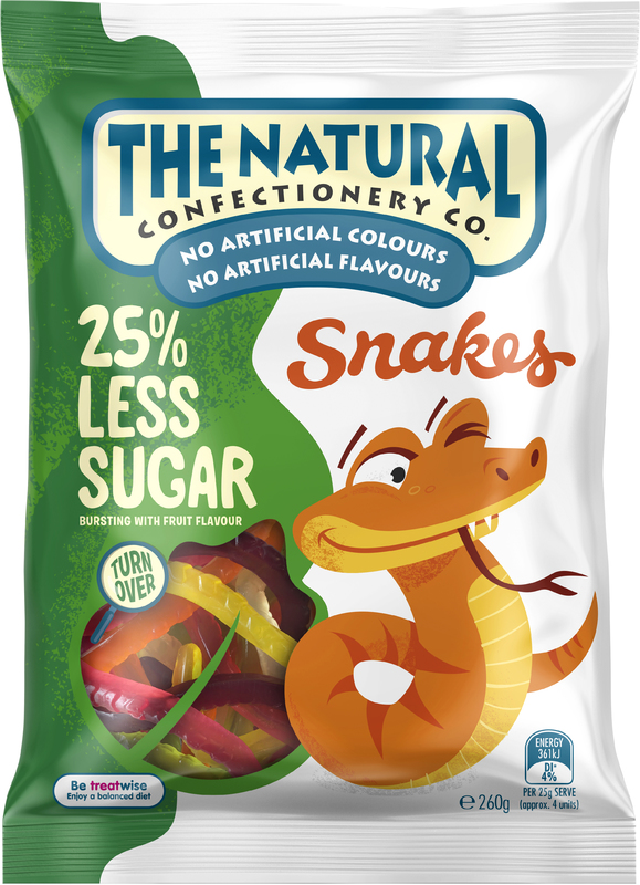 The Natural Confectionery Co Snakes Reduced Sugar (260g)