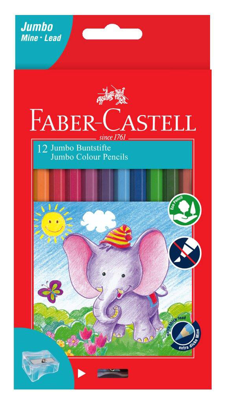 Faber-Castell: 12 Jumbo Colour Pencils with 8 Jumbo Connector Pens