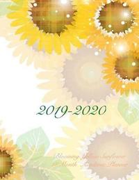 2019-2020 Blooming Yellow Sunflower 18 Month Academic Planner by Laura's Cute Planners