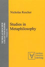 Studies in Metaphilosophy by Nicholas Rescher image