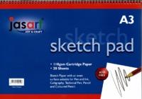 Jasart A3 Sketch Pad- Spiral
