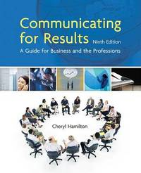 Communicating for Results by Cheryl Hamilton image