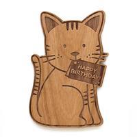Cardtorial: Cat Shape Birthday Greeting Card