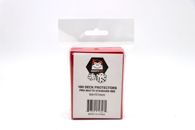 Mighty Ape Deck Protectors Pro-Matte Standard Red (100)