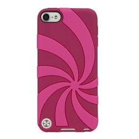 Gecko Swirl Case for iPod Touch 5G (Red/Pink)