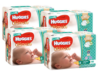 Huggies Ultimate Nappies Bulk Value Box - Size 2 Infant (192)