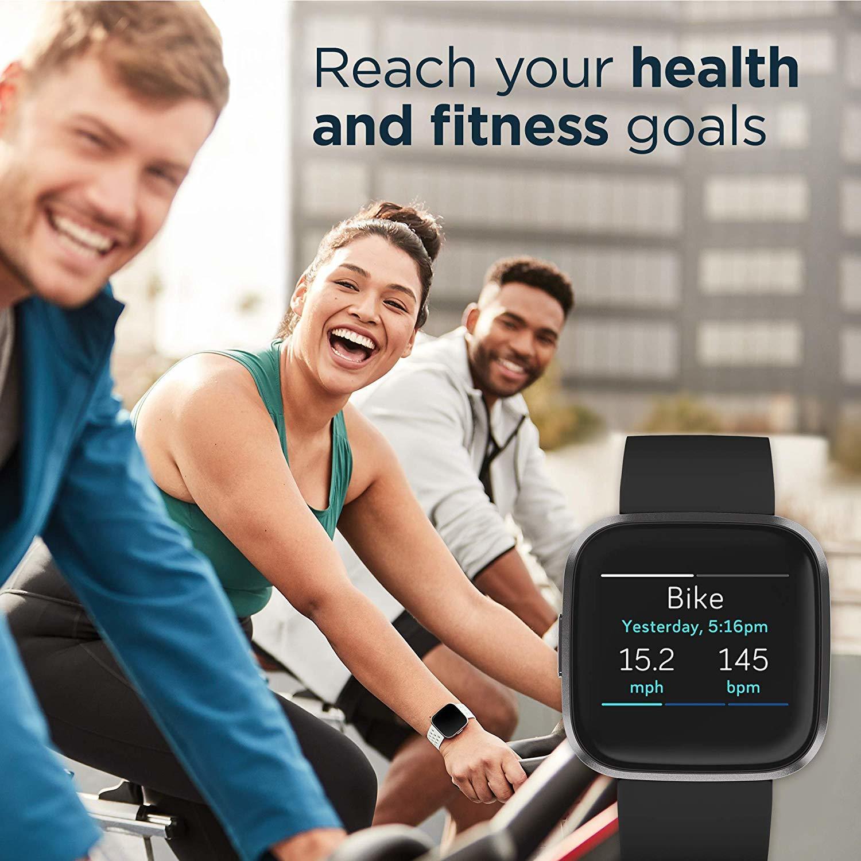Fitbit Versa 2 Health & Fitness Smartwatch - Black/Carbon image
