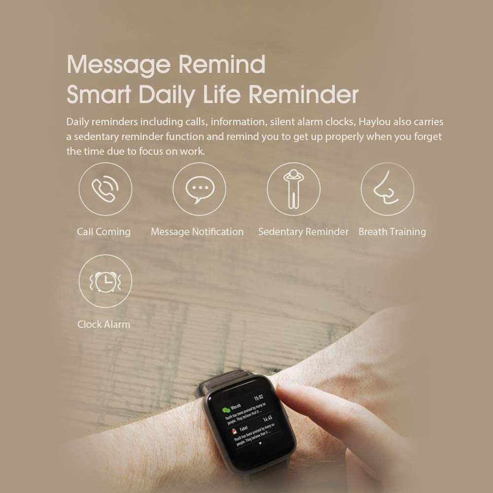 Haylou LS01 Smart Watch Silver Global image