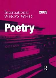 International Who's Who in Poetry 2005 by Europa Publications image