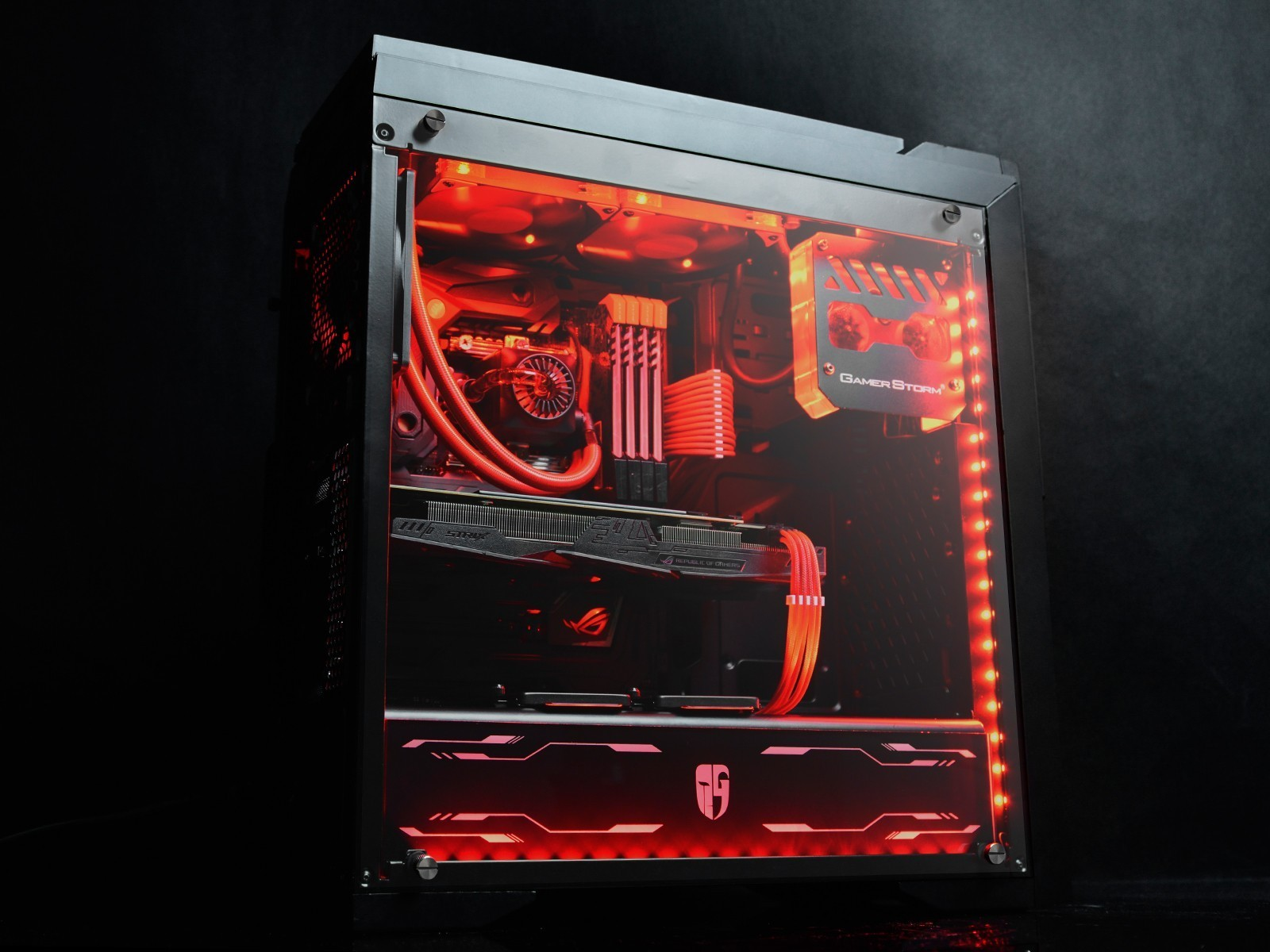 Deepcool Gamerstorm Dukase Liquid Case Black Built In Cooling Deep Cool Z5 Image