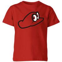 Nintendo Super Mario Odyssey Cappy Kids' T-Shirt - Red - 5-6 Years image