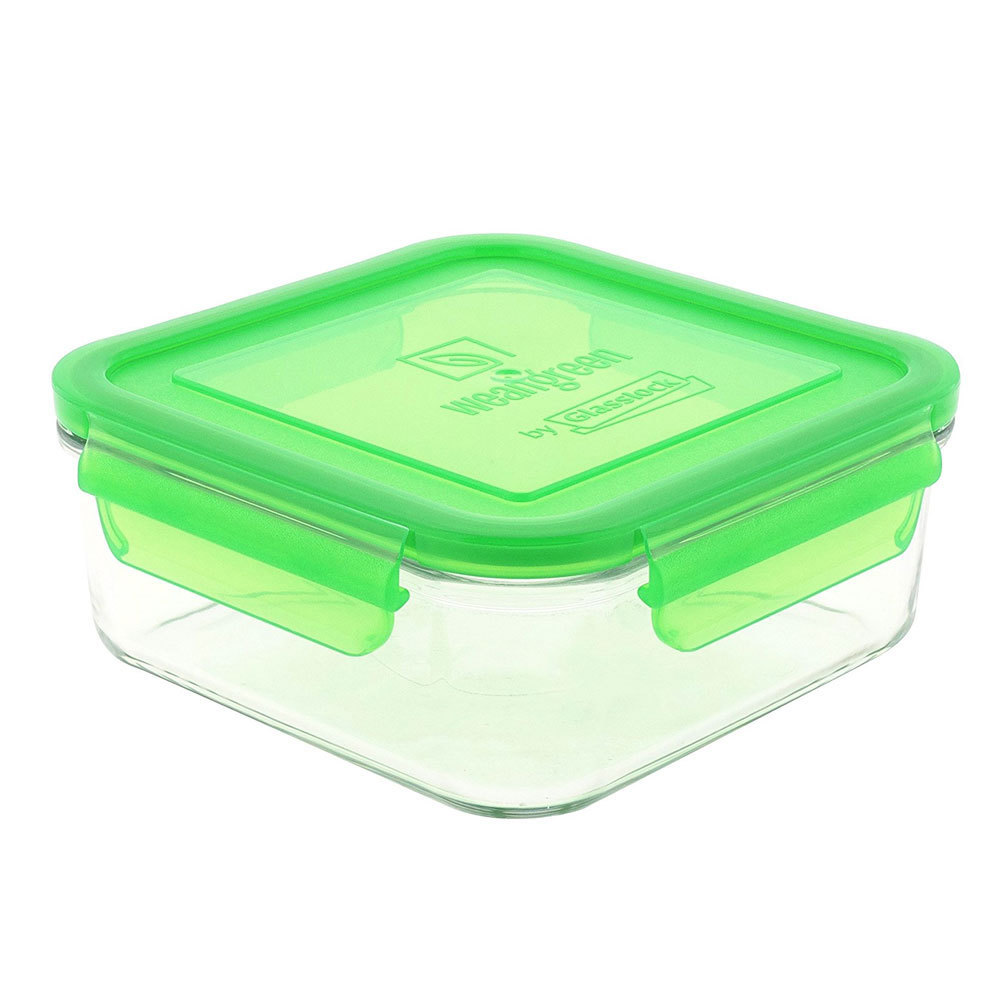 Glass Lunch Cube - Pea (480ml) image