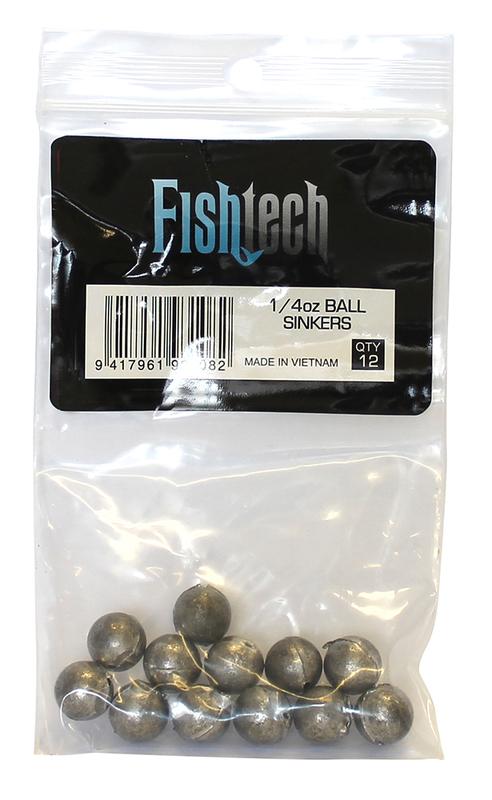Fishtech Ball Sinkers 1/4oz (12 per pack)