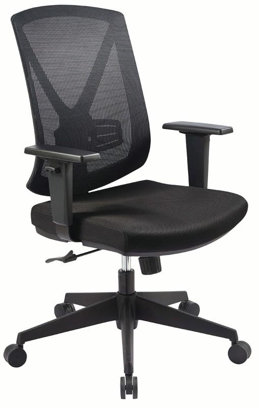 Buro Brio II Mesh Chair with Arms - Black