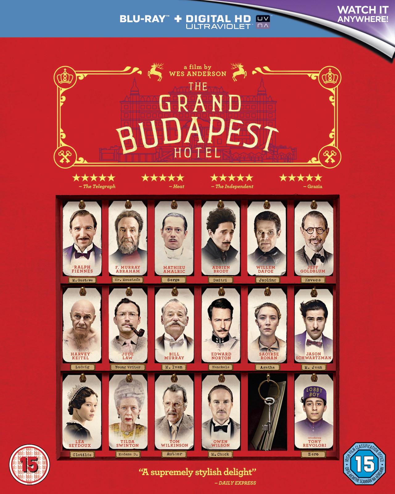 The Grand Budapest Hotel on Blu-ray, UV image