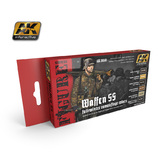AK Waffen SS Fall/Winter Camouflage Colours Paint Set