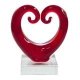 Small Koru Heart - Red