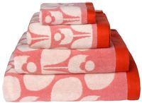 Orla Kiely Bath Towel - Wallflower Bubblegum