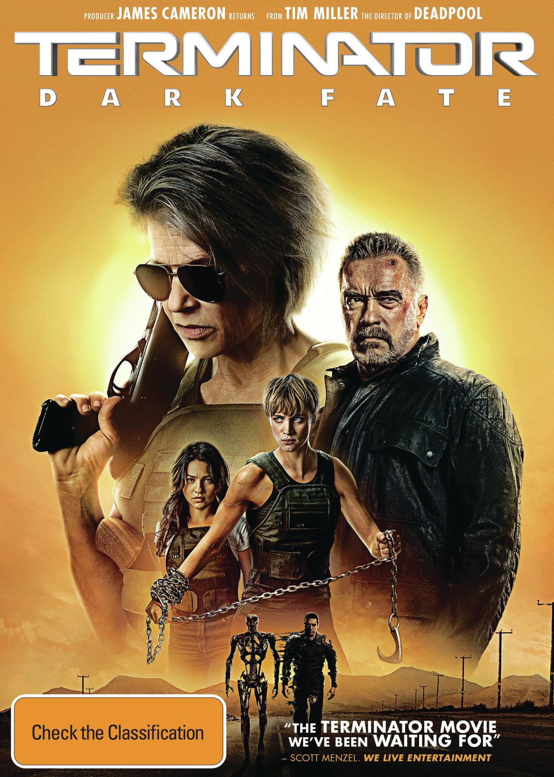 Terminator: Dark Fate on DVD image