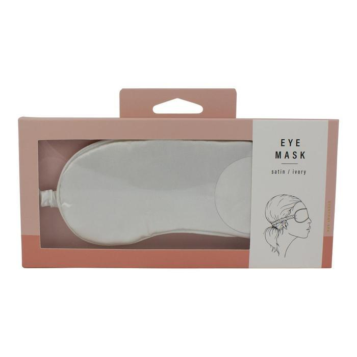Simply Essential Satin Eye Mask - Ivory image