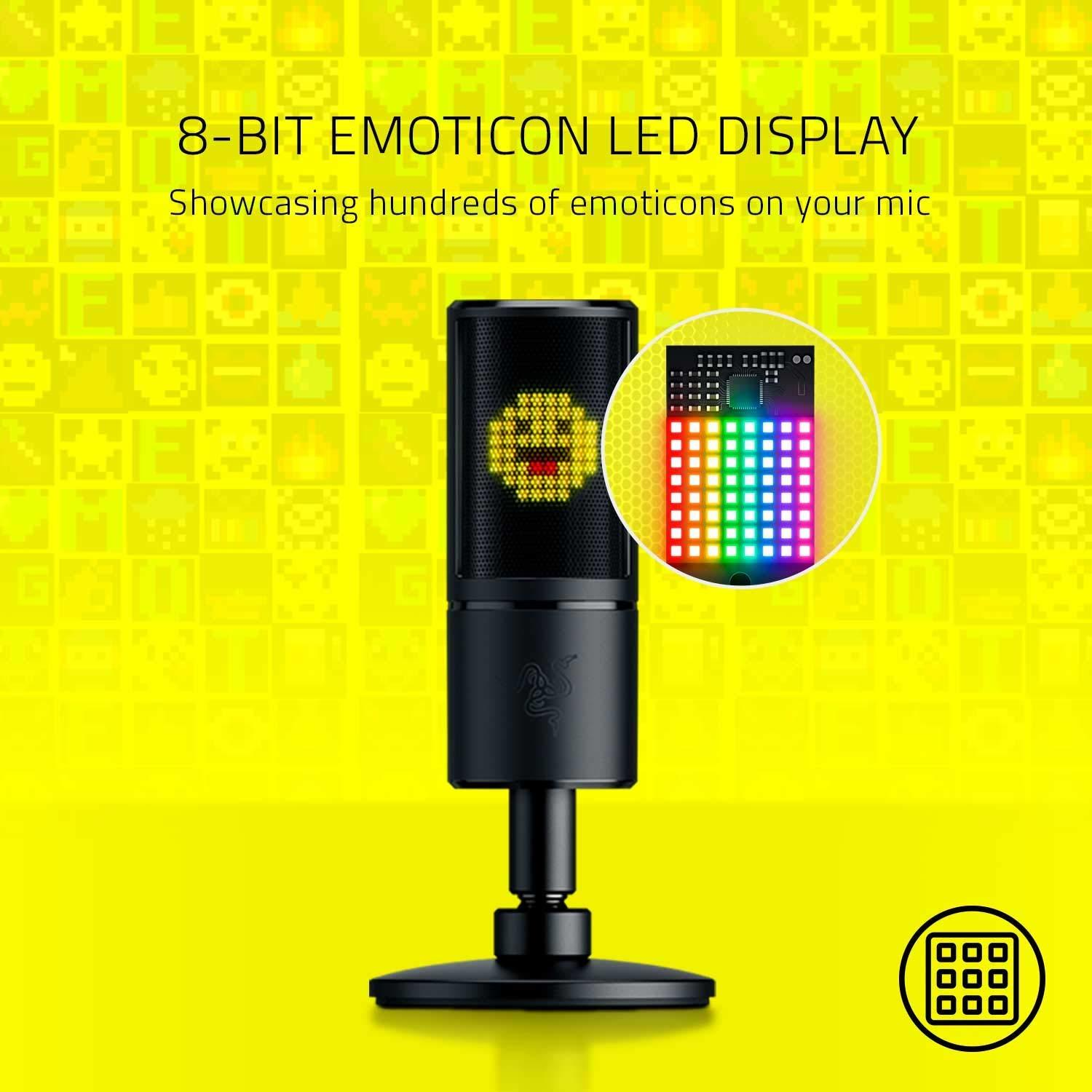 Razer Seiren Emote Microphone with Emoticons for PC image