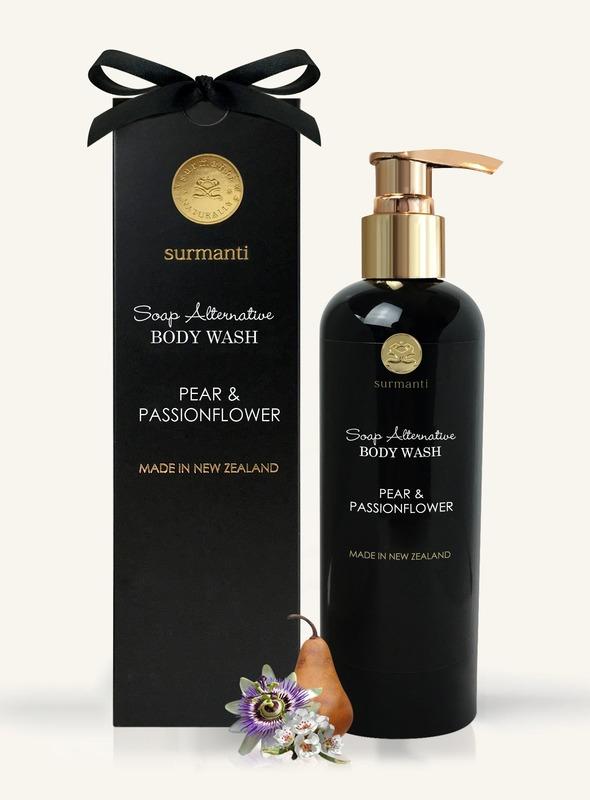 Surmanti Body Wash Soap Alternative - Pear & Passionflower (300ml)