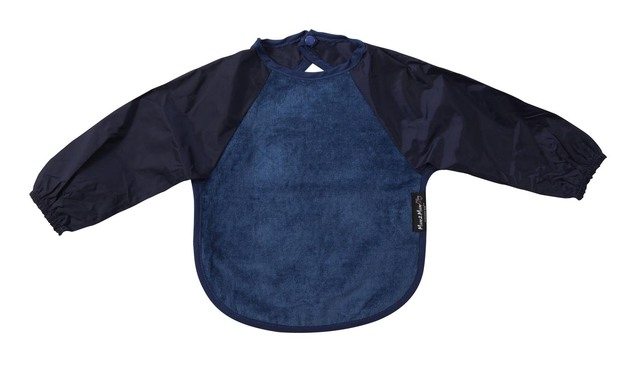 Mum 2 Mum Sleeved Wonder Bib (6-18 Months) - Navy