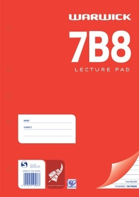 Warwick 7B8 75lf Ruled Lecture Pad