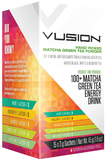 Vusion 100+ Matcha Green Tea Energy Drink - Assorted Flavours (15 Serves)