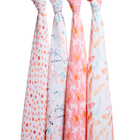 Aden + Anais: Classic Swaddles - Petal Blooms (4 Pack)