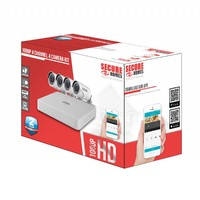 Secure Homes: 4 Channel 4 Camera Kit 1TB HDD, 1080P image