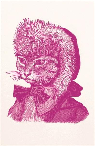 Chase & Wonder:Individual Christmas Card - Cat image