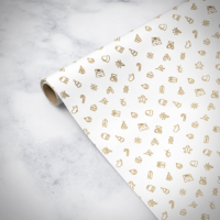 Gorilla Gift: Wrapping Paper - Christmas White (2m)