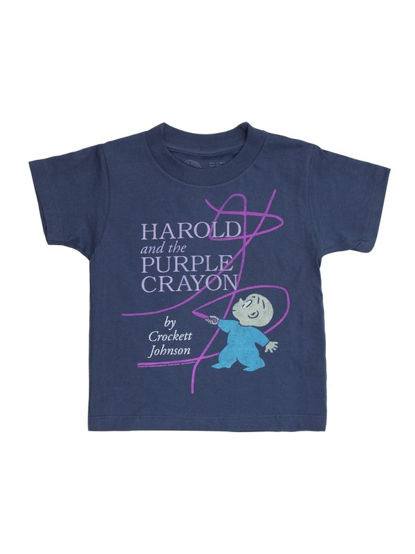 Out of Print: Harold and the Purple Crayon Childrens Tee - 6/7 yr